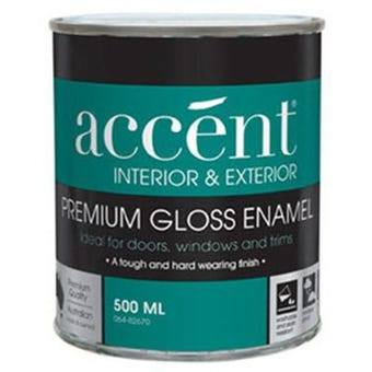 Accent® Enamel Oil Based Gloss Enamel White 500ml