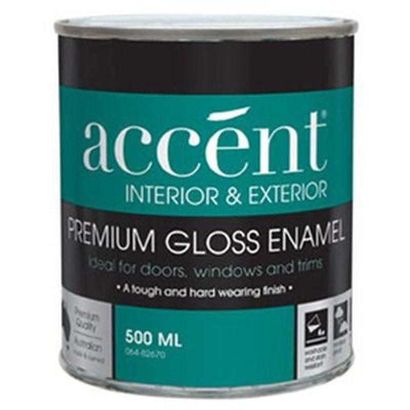 Accent® Enamel Oil Based Gloss Enamel White 500ml