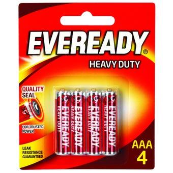 Eveready Heavy Duty Battery AAA - 4 Pack