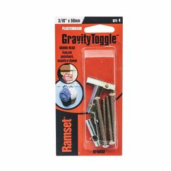 "Ramset GravityToggle Round Head 3/16"" x 50mm - 4 Pack"