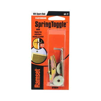 Ramset SpringToggle With Square Hook 10kg - 2 Pack