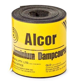 Alcor DPC Bitumen Coated Aluminium 110mm x 10m