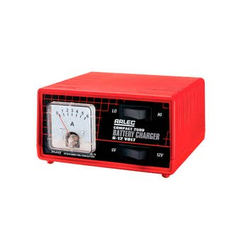Arlec Compact Auto Battery Charger 2500 6 + 12V with Hi-Lo Switch