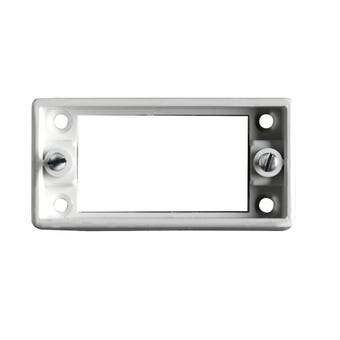 HPM Architrave Switch Mounting Block White