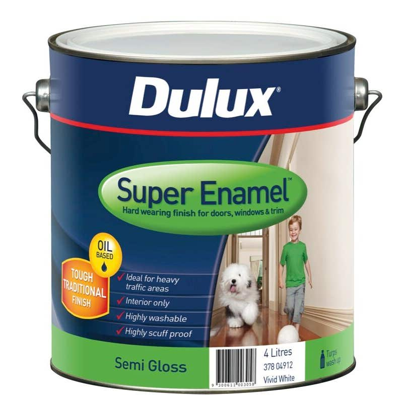 Dulux Super Enamel Vivid White 4L
