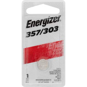 Energizer Battery Coin Cell 357/303 1.5V - 1 Pack