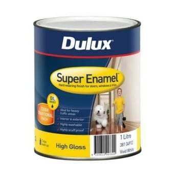 Dulux Super Enamel High Gloss Vivid White 1L