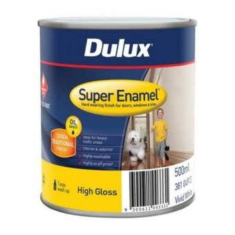 Dulux Super Enamel High Gloss Vivid White 500ml
