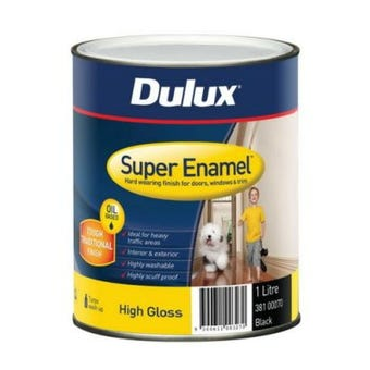 Dulux Super Enamel High Gloss Black 1L