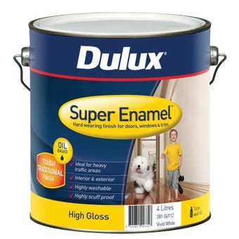 Dulux Super Enamel High Gloss Vivid White 4L
