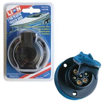 Lion 7 Pin Plastic Trailer Base