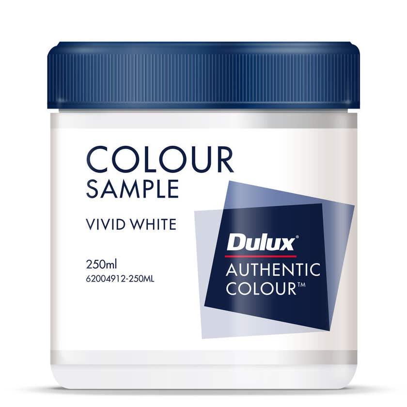 Dulux Sample Pot Vivid White 250ml