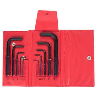 Bondhus Hex End L-Wrench Hex Key Set Metric Wallet Short - 10 Piece