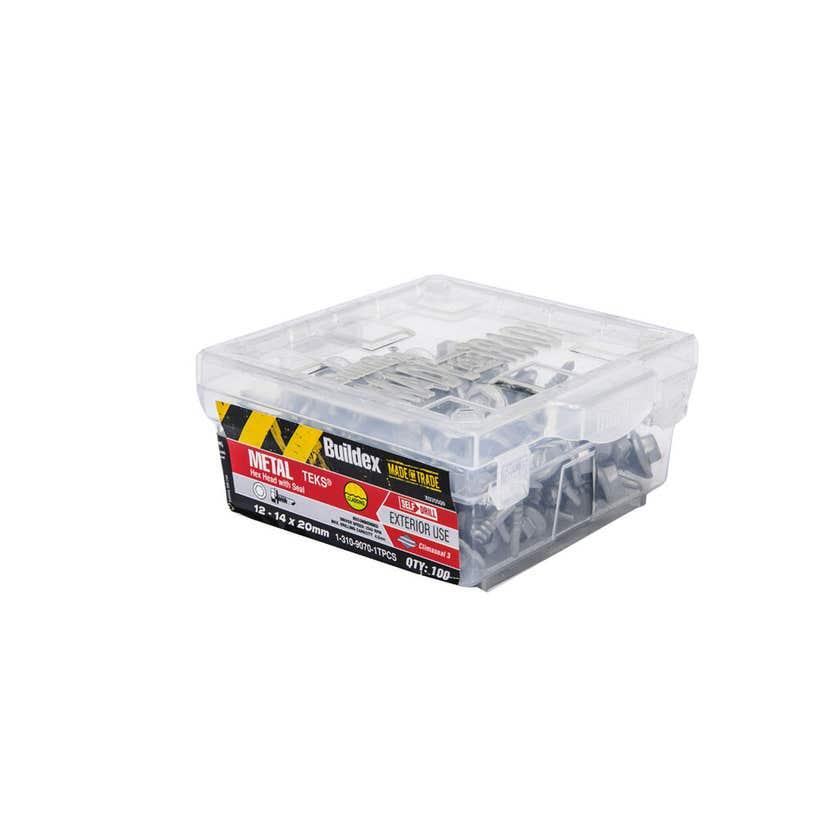 Buildex® Metal Teks Hex Head With Seal 12 - 14 x 20mm - 100 Pack