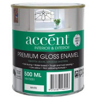Accent® Enamel Water Based Gloss White 500ml