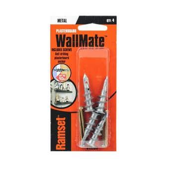 Ramset WallMate Metal With Screws 10kg - 4 Pack