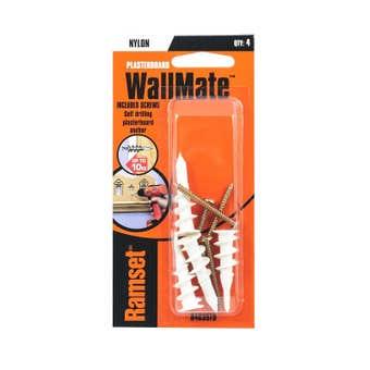 Ramset WallMate Nylon With Screws 10kg - 4 Pack