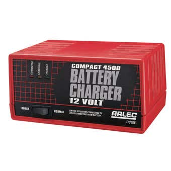 Arlec Compact Auto Battery Charger Charger with Boost Switch 4.5Amp 12V