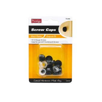 Prestige Snap-on Screw Caps Black 10 - 12g - 12 Pack