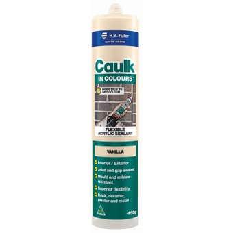 H.B. Fuller Caulk In Colours Vanilla 450g