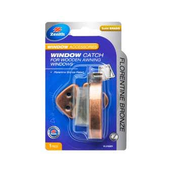 Zenith Window Catch Florentine Bronze - 1 Pack