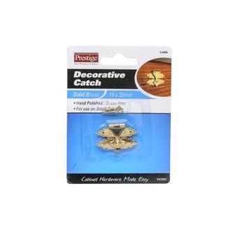 Prestige Decorative Catch Polished Brass - 2 Pack