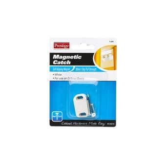 Prestige Magnetic Catch Light Duty White 30mm - 1 Pack