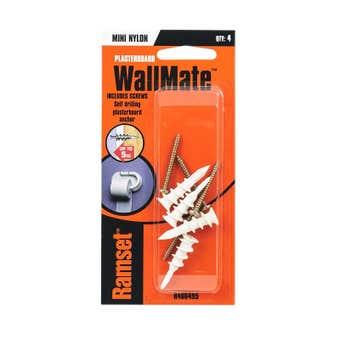 Ramset WallMate Nylon Mini With Screws 5kg - 4 Pack
