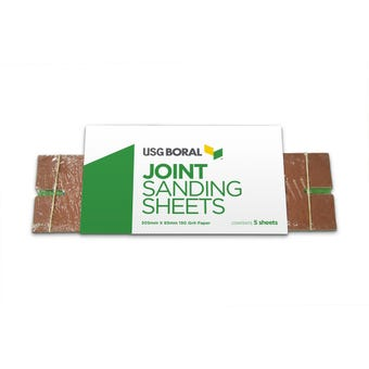 USG Boral Joint Sanding Sheets 305 mm X 85 mm 150 Grit 5 Pack