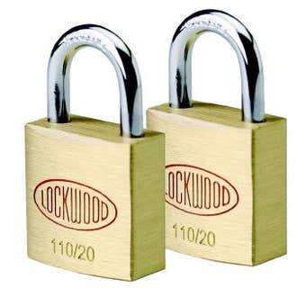 Lockwood Solid Brass 110 Series Padlock 20mm - 2 Pack
