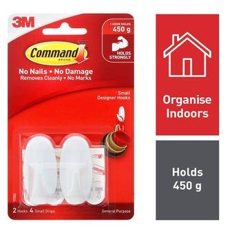 Command Designer Hook Small - 2 Pack