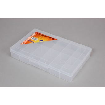 Fischer Storage Box Clear Large 12 Compartment