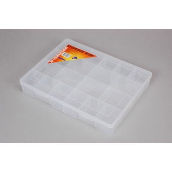 Fischer Storage Box Clear Extra Large 20 Compartment