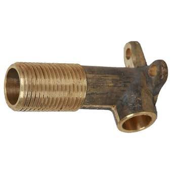 Brasshards Elbow Wall Brass 15mm Male x 15mm Compression