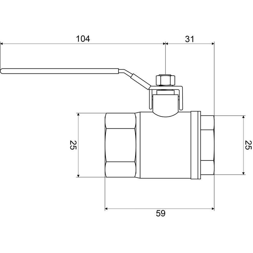 "Mildon Tested Ball Valve Brass 1/2"" (15mm)"