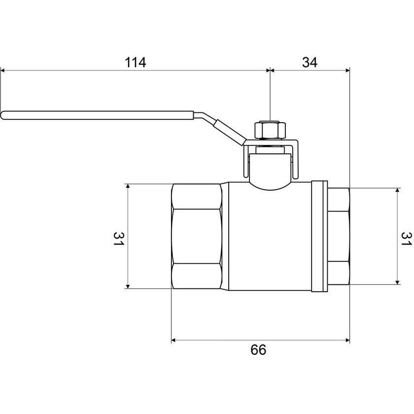 "Mildon Tested Ball Valve Brass 3/4"" (20mm)"
