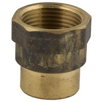 Brasshards Socket Hex Reducing Brass 20 x 15mm