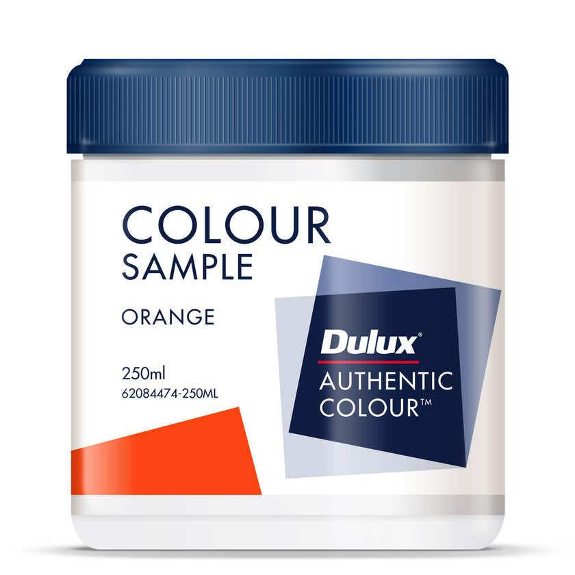 Dulux Sample Pot Orange Base 250ml