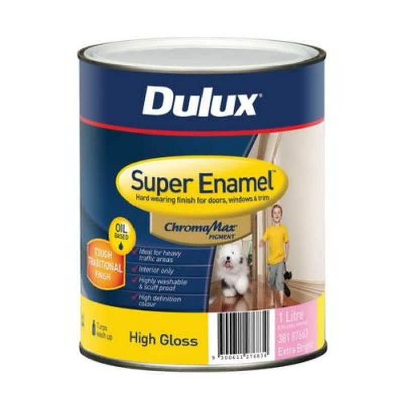 Dulux Super Enamel High Gloss Extra Bright Base 1L
