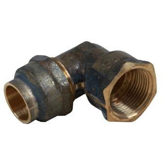 Elbow Flare Comp Brass 20FI x 20C