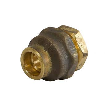 Union Flared Comp Brass 15C x 15C