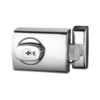 Lockwood 001 Double Cylinder Deadlatch Knob Chrome Plate