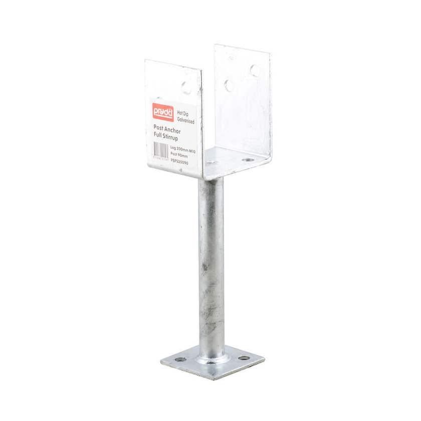 Pryda Full Stirrup Post Anchor 200 x 90mm