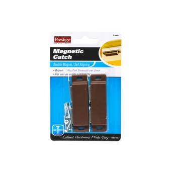Prestige Magnetic Catch Heavy Duty Double Brown 4kg - 2 Pack