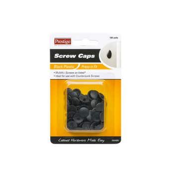 Prestige Press-in Screw Caps Black - 100 Pack