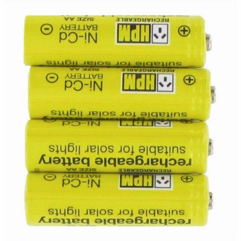 HPM Solar Rechargeable Batteries - 4 Pack