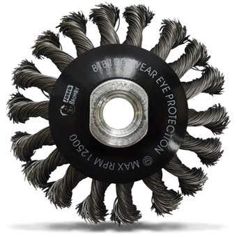 Josco Twistknot Multi-Thread Bevel Brush 100mm