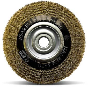 Josco Wide Face Crimped Wire Wheel Brush 200 x 20mm