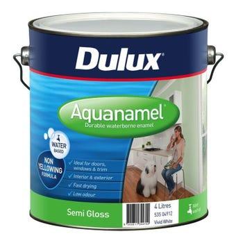 Dulux Aquanamel Semi Gloss Vivid White 4L