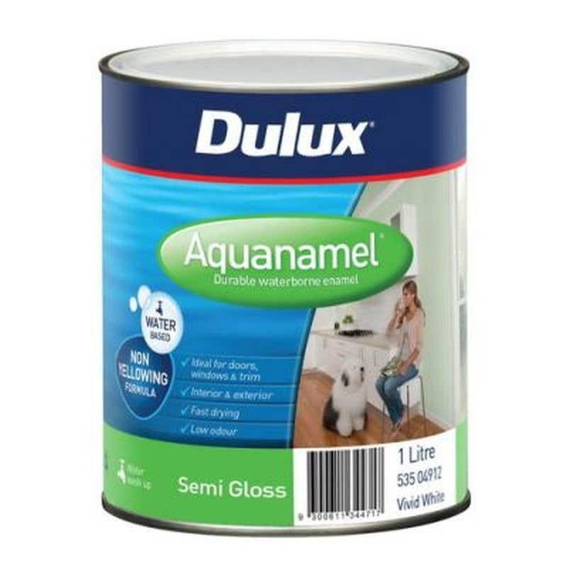 Dulux Aquanamel Semi Gloss Vivid White 1L